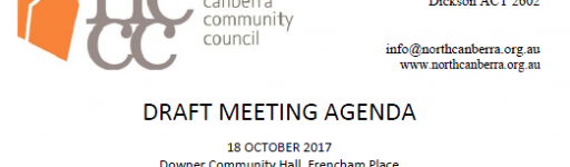Next Meeting NCCC – 18 Oct 17