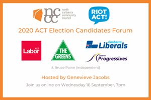 2020 ACT Election: Candidates Forum