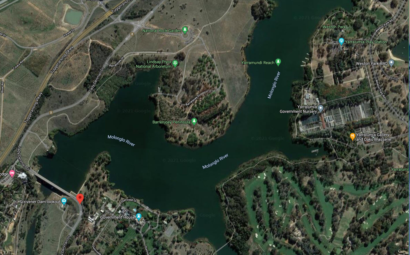 Proposed Heritage nomination of Lake Burley Griffin and Adjacent Lands, Lady Denman Dr, Yarralumla, ACT, Australia