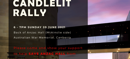 ANZAC Hall Candlelit Rally